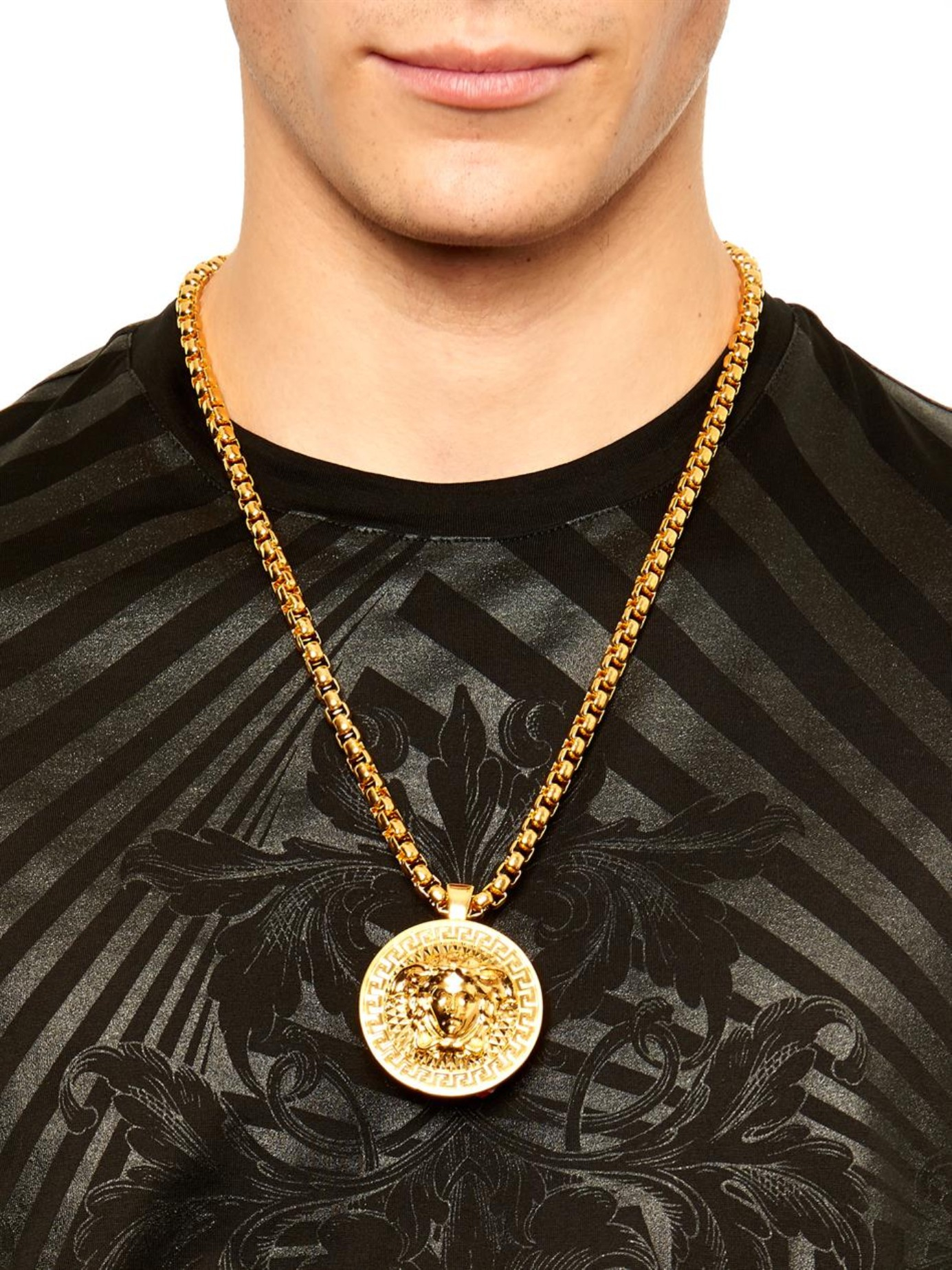 Versace Medusa Necklace in Metallic for Men | Lyst