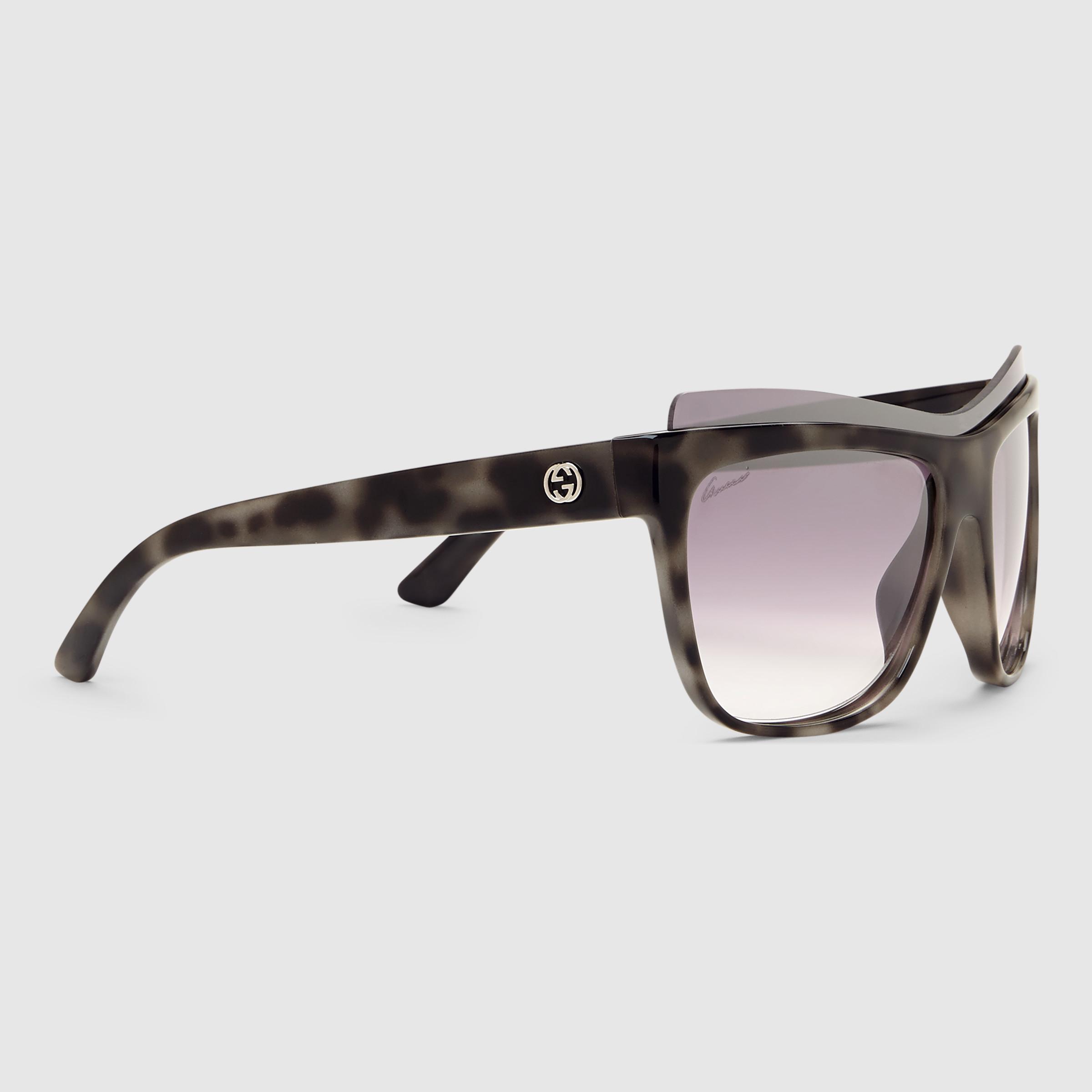 Gucci Wood Frame Glasses : Gucci Rectangular-frame Optyl Sunglasses Lyst