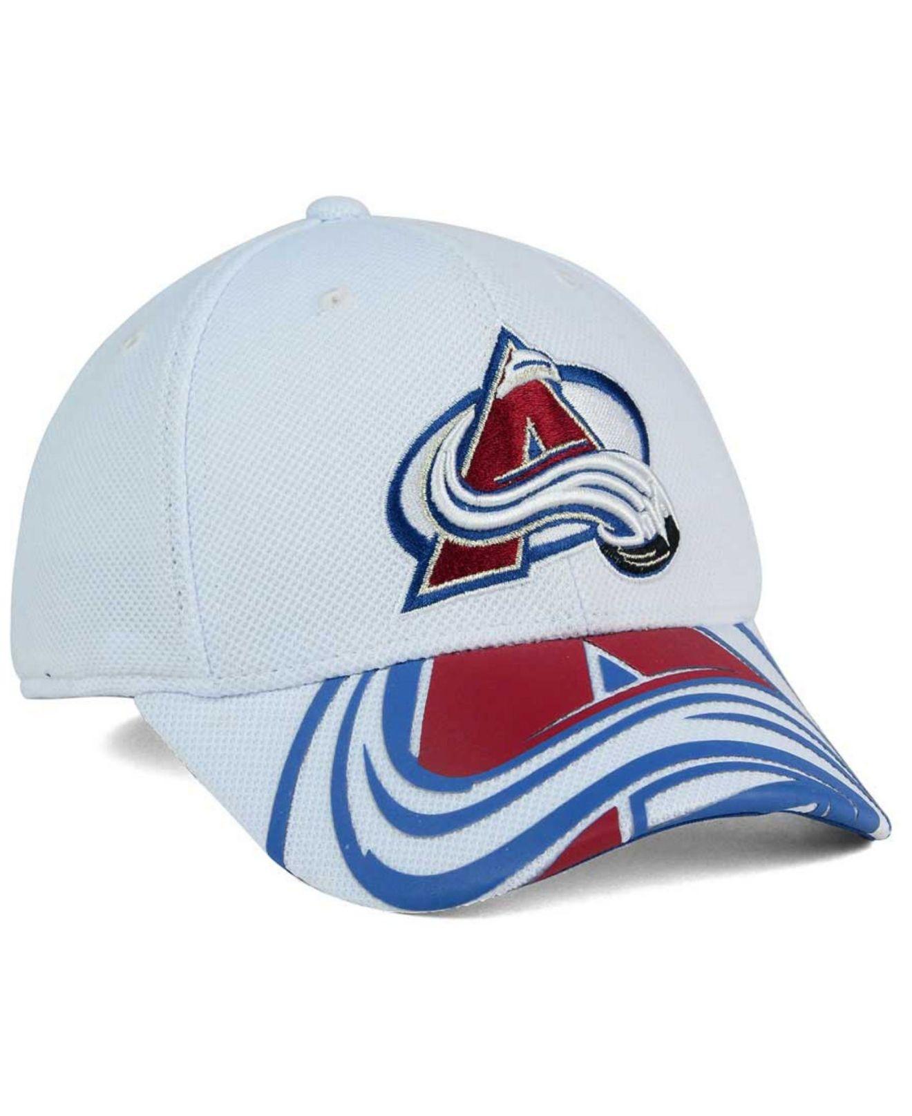 competitive price 1dfc3 98438 ... structured flex hat a268d c17e7  purchase lyst reebok colorado  avalanche 2nd season draft flex cap in blue bec89 2456b