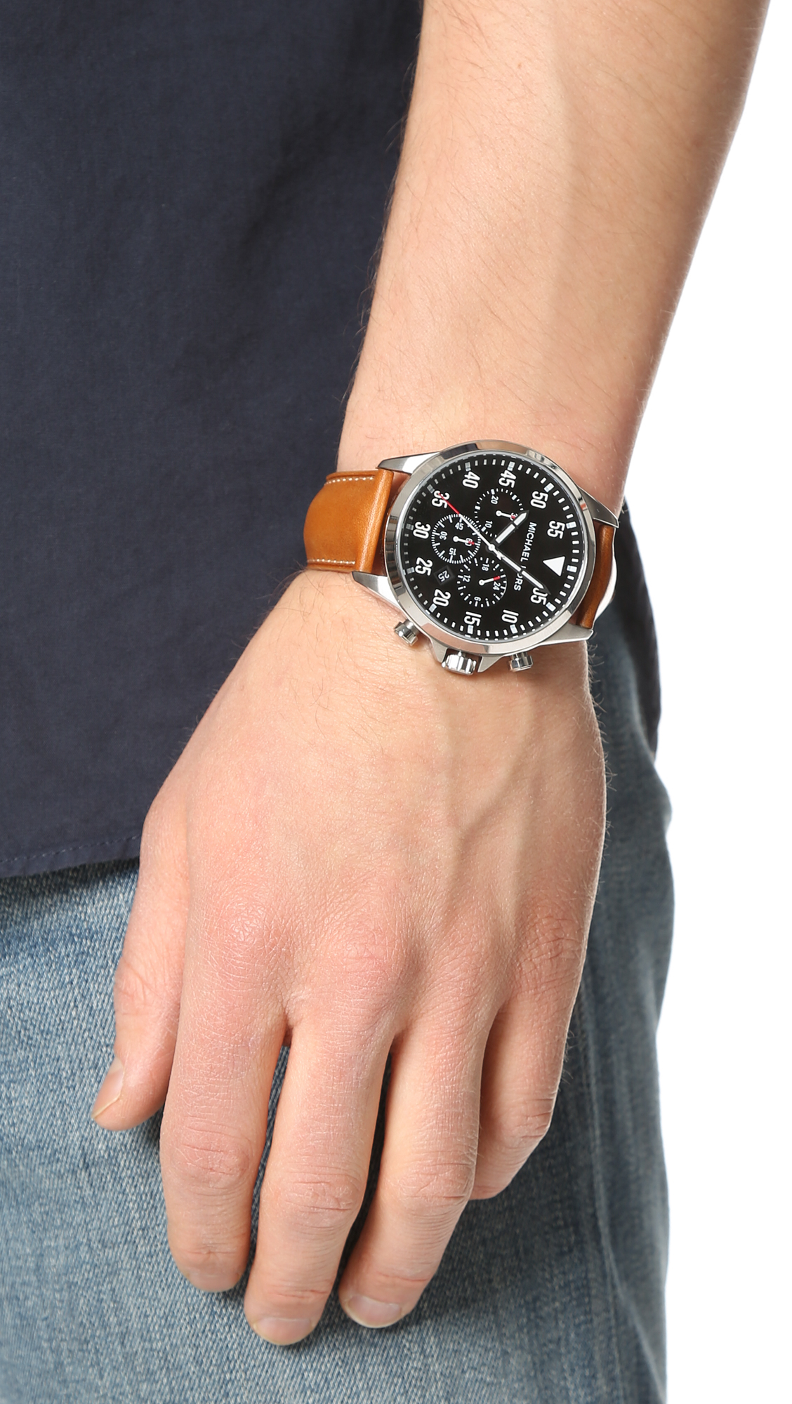 425b598117b2 Lyst - Michael Kors Gage Chronograph Watch in Brown for Men