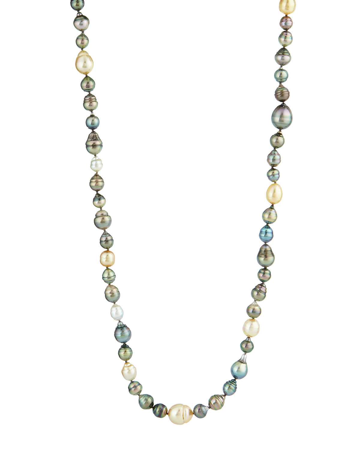 Lyst Belpearl Long Tahitian Amp South Sea Pearl Necklace