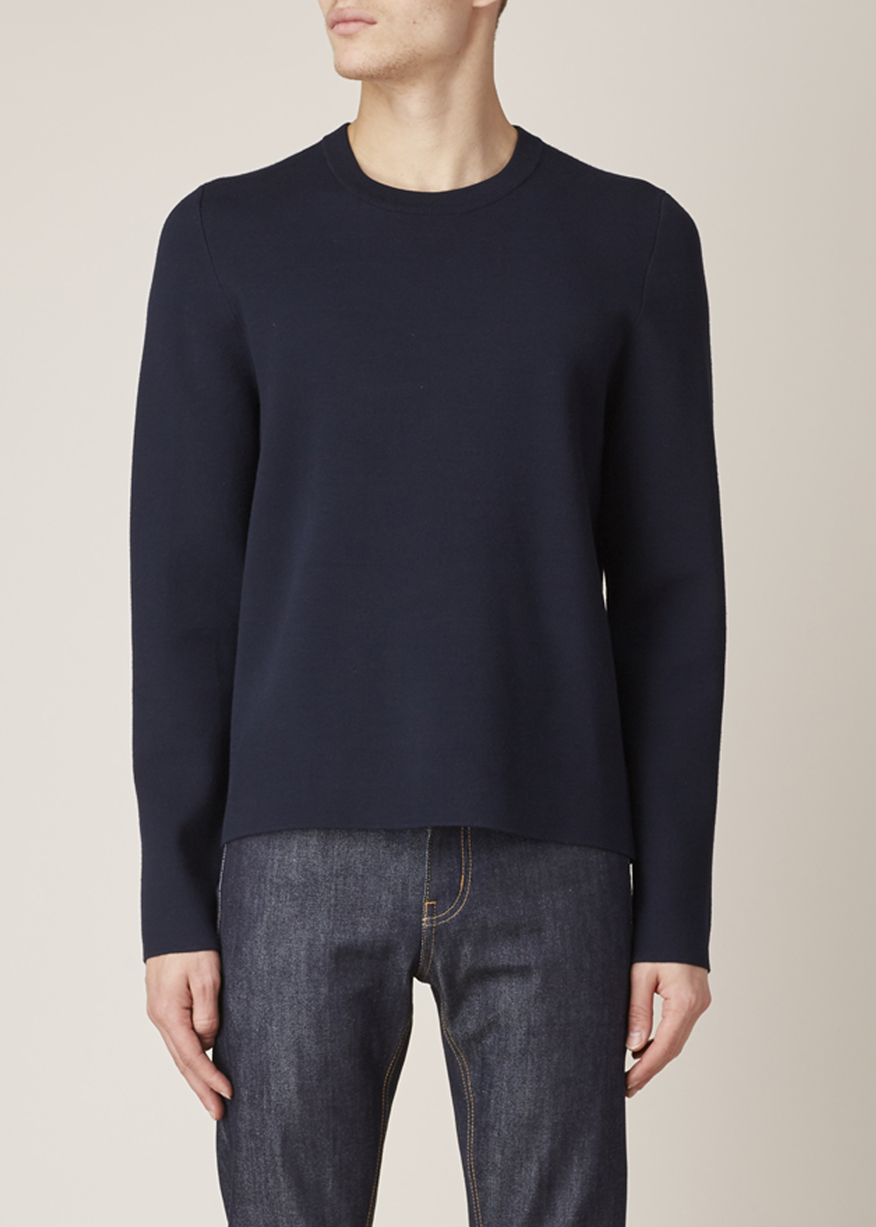 Acne studios Dark Navy Lang Sweater in Blue for Men | Lyst