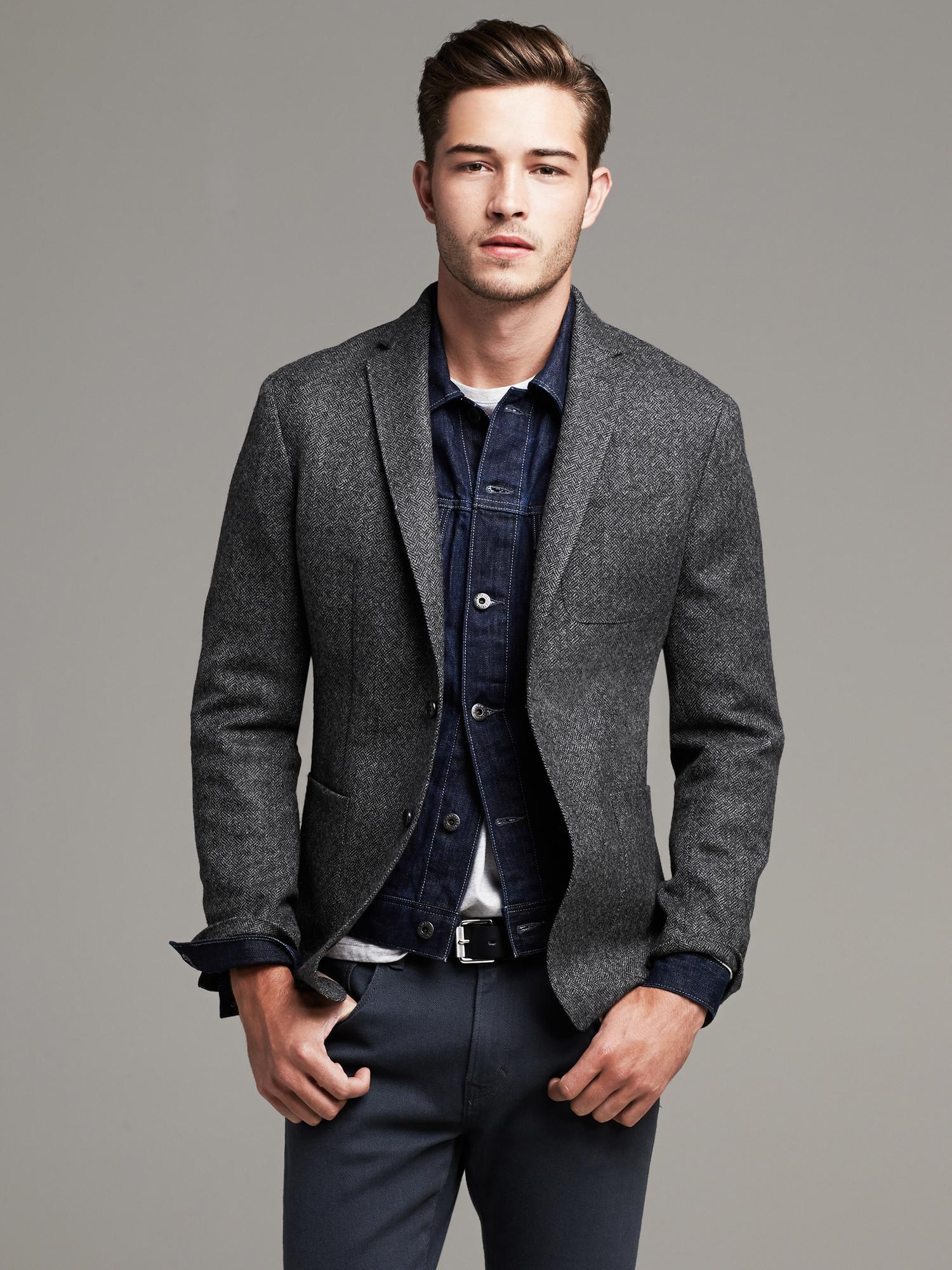 Grey Tweed Blazer Photo Album - Reikian