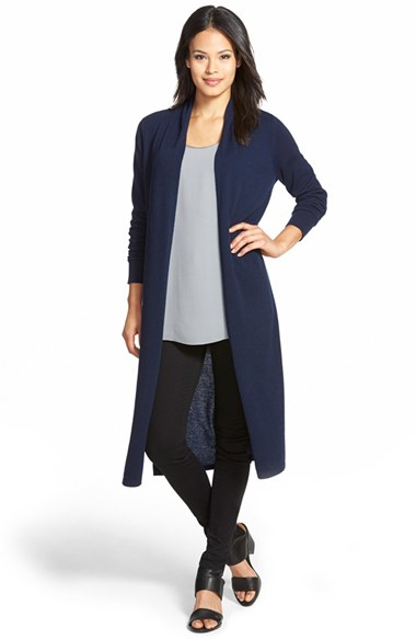 Nordstrom collection Open Front Cashmere Duster Cardigan in Blue ...