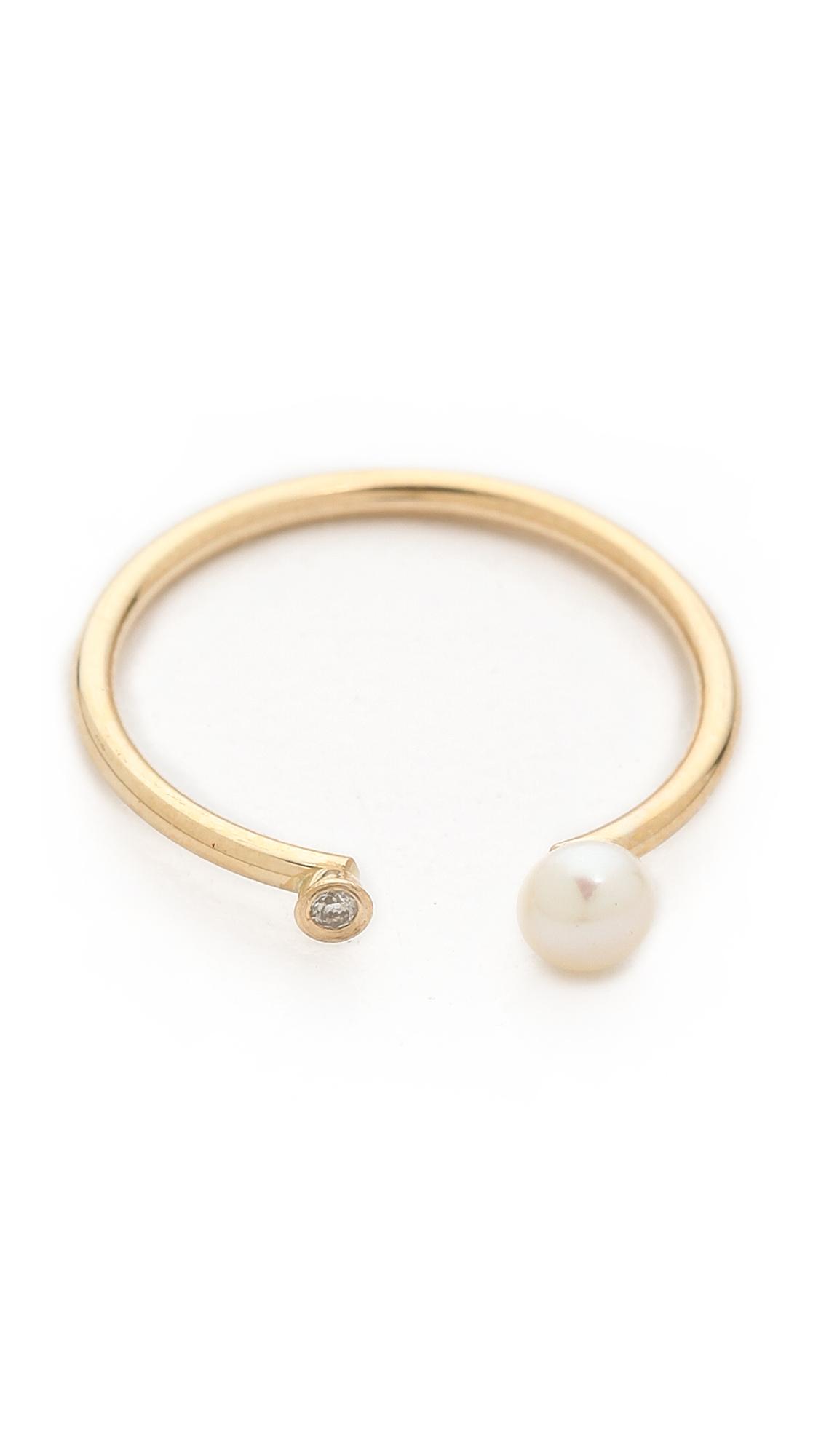 Ariel Gordon Jewelry Pearl & Diamond Ring tlIWX