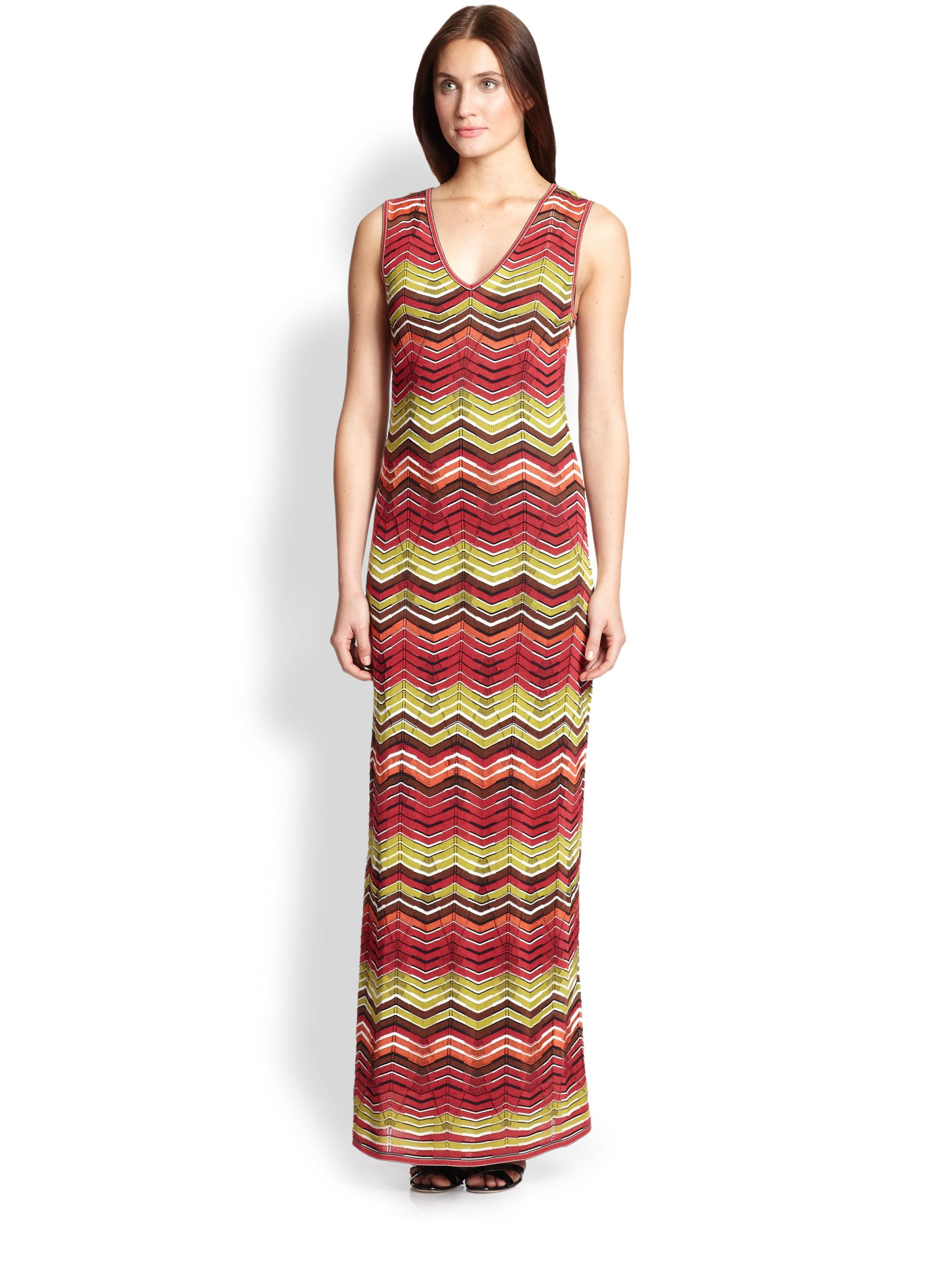 Lyst M Missoni Knit Zigzag Dress