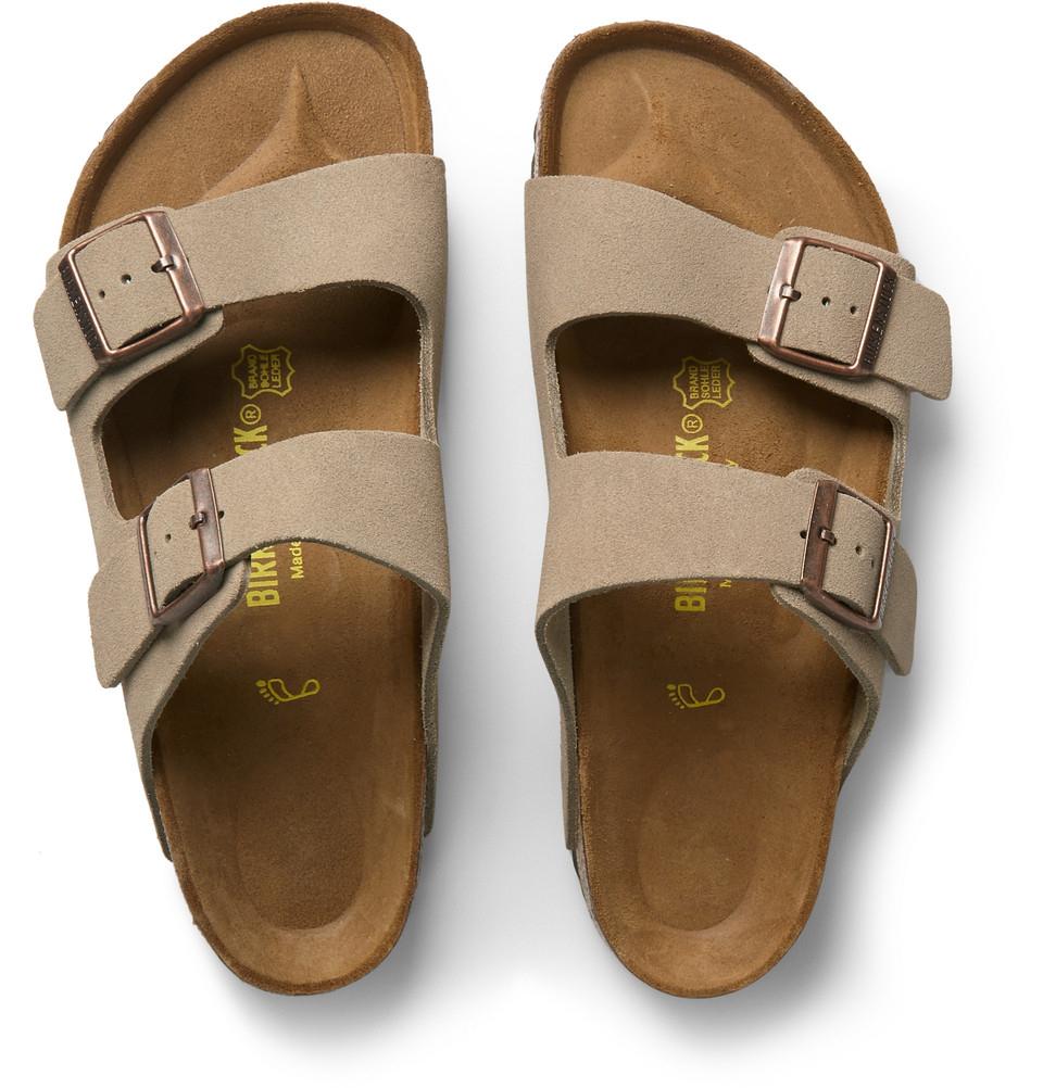 birkenstock arizona suede sandals in brown for men lyst. Black Bedroom Furniture Sets. Home Design Ideas