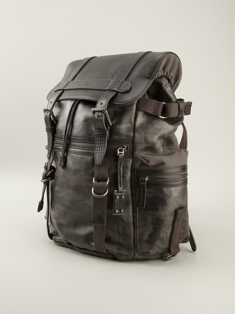 Dolce & gabbana Camouflage Backpack in Gray for Men | Lyst