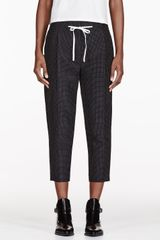 3.1 Phillip Lim Black Silk Polka Dot Pleated Peg Trousers - Lyst