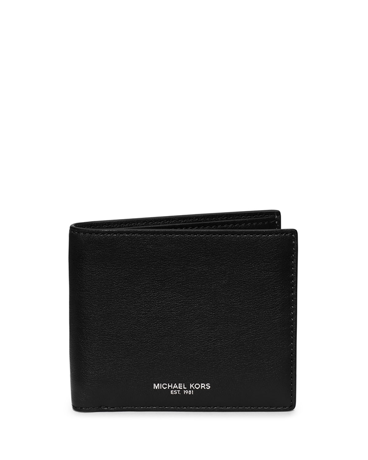 1dd90608c26a ... discount lyst michael kors dylan milled leather bifold wallet in black  for men 59bde 1b3c5
