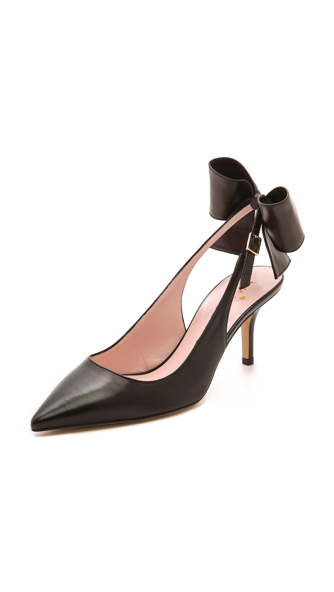 93dfc4acee1 Lyst - Kate Spade Jax Slingback Bow Pumps Black in Black