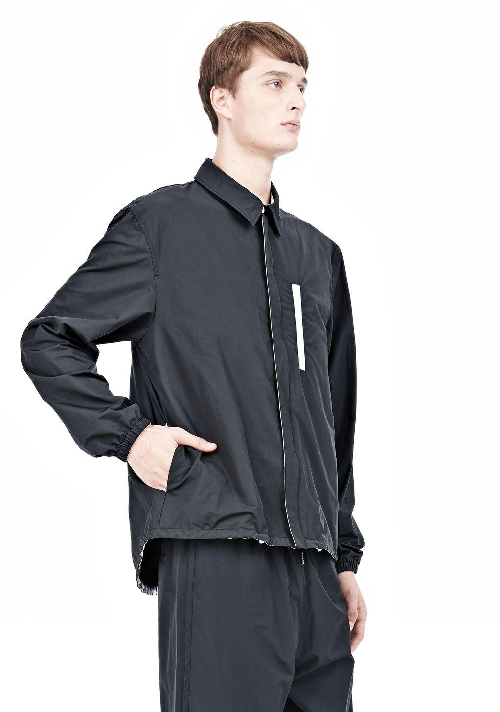 Alexander wang Lightweight Nylon Collared Shirt Jacket in Black ...