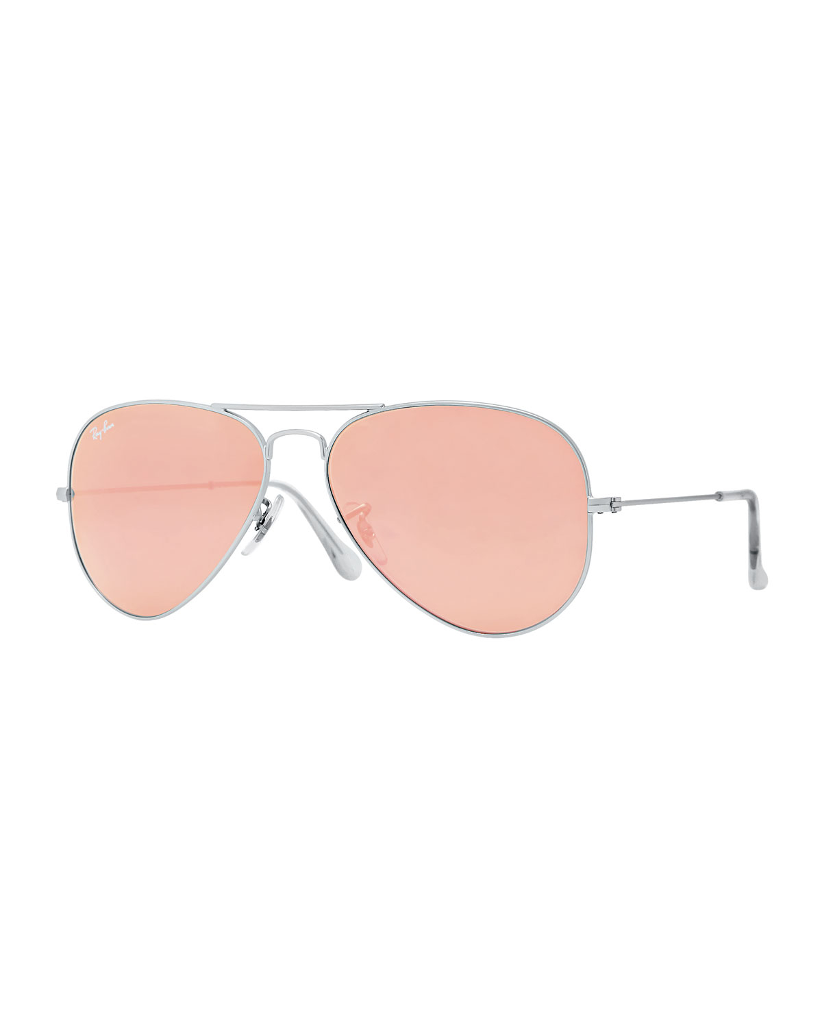 Ray ban aviator mirrored sunglasses in brown for men lyst for Mirror sunglasses
