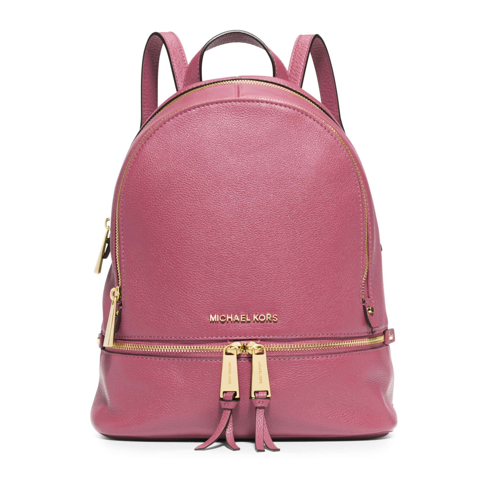 Michael kors Rhea Small Leather Backpack in Purple | Lyst