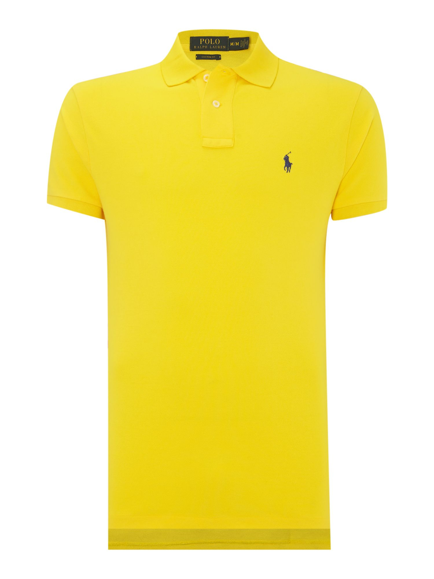 Ralph Lauren Men Mesh Polo Shirts Light Yellow