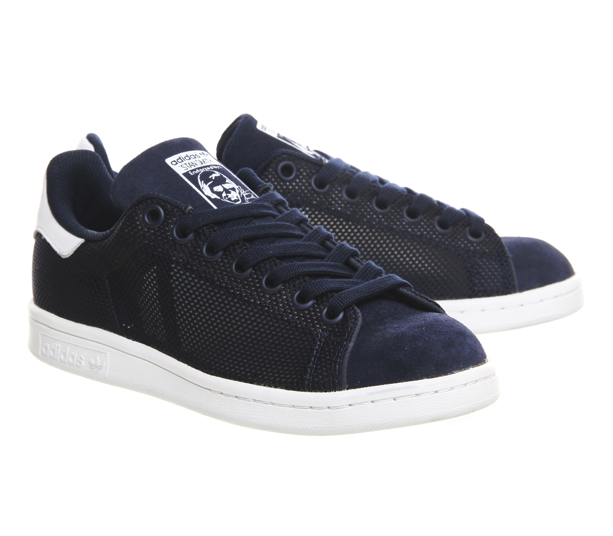 adidas originals stan smith in blue navy lyst. Black Bedroom Furniture Sets. Home Design Ideas