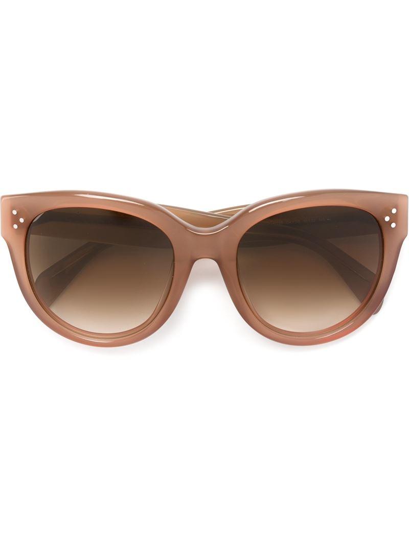 Celine Audrey Sunglasses  céline audrey sunglasses in brown lyst