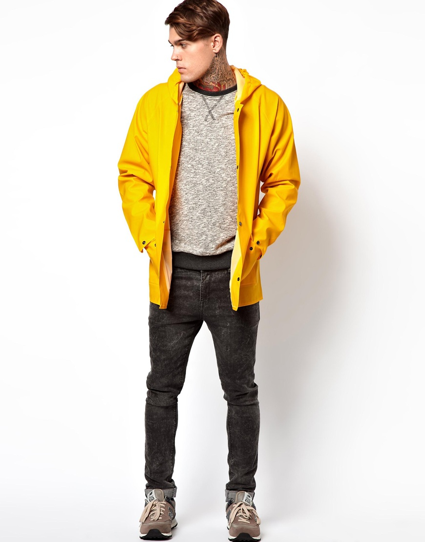 Elka Klitmoller Button Up Raincoat in Yellow for Men | Lyst