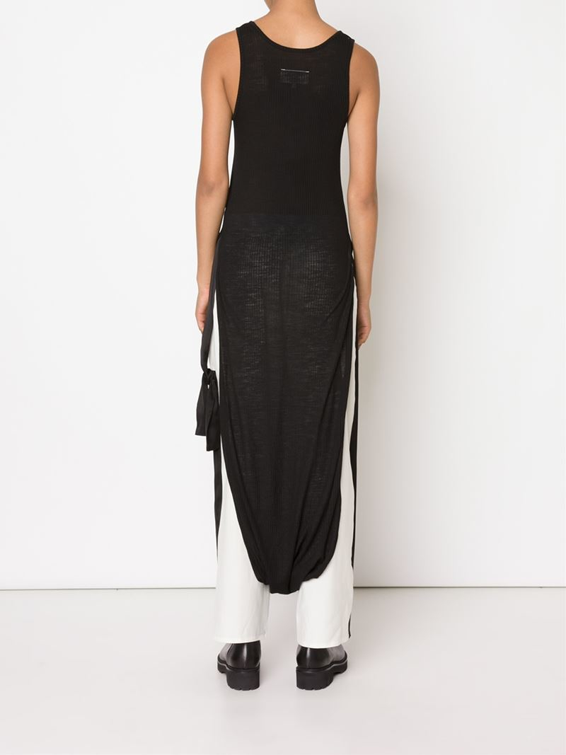 Lyst mm6 by maison martin margiela elongated tank in black for Mm6 maison margiela