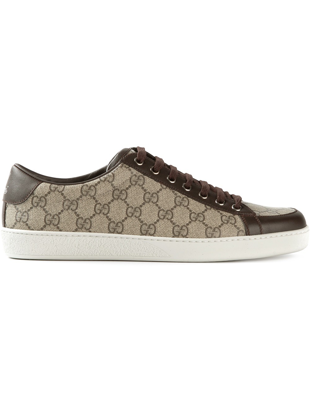66806e653 Gucci Monogram Print Trainer in Brown for Men - Lyst