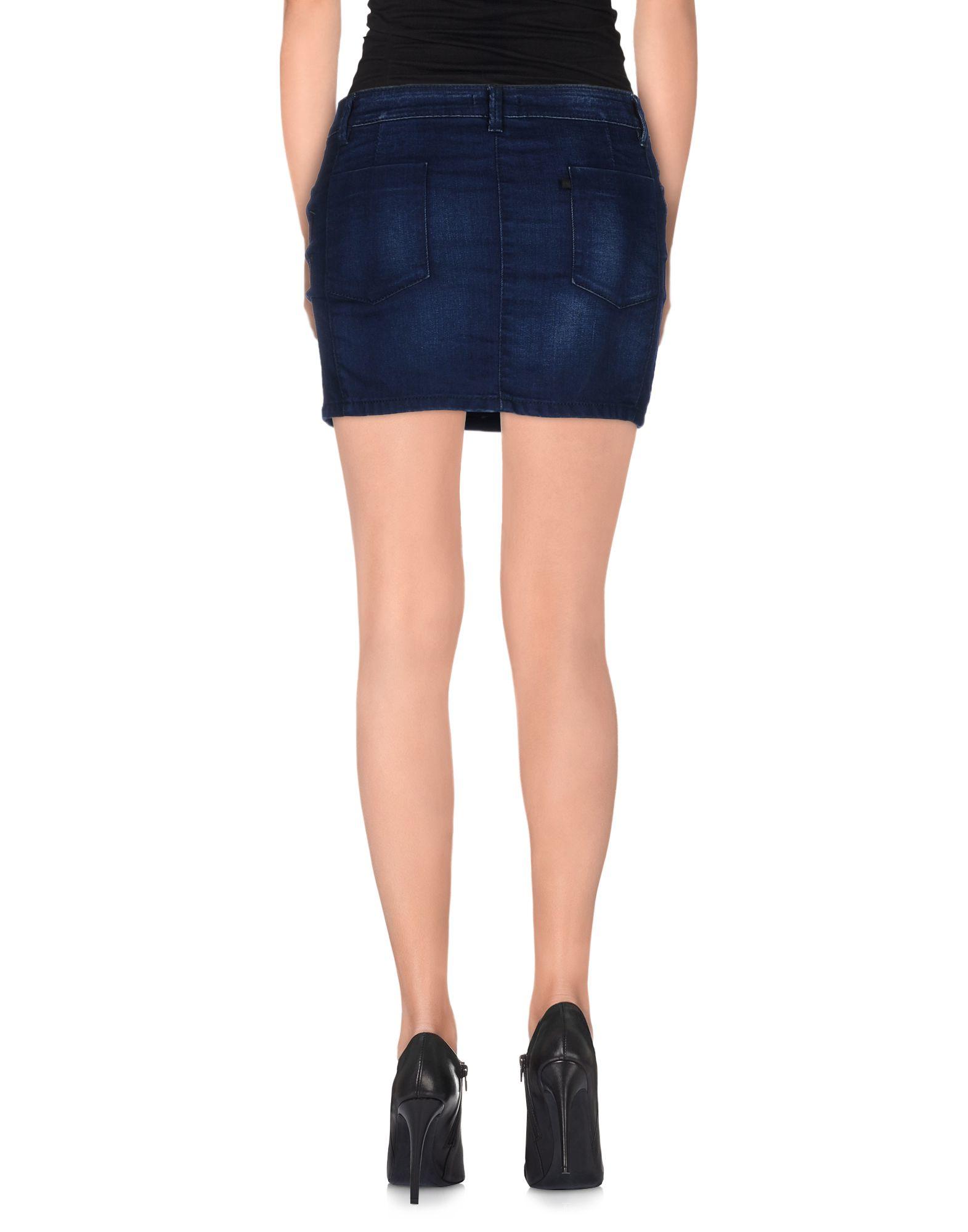 costume national denim skirt in blue lyst