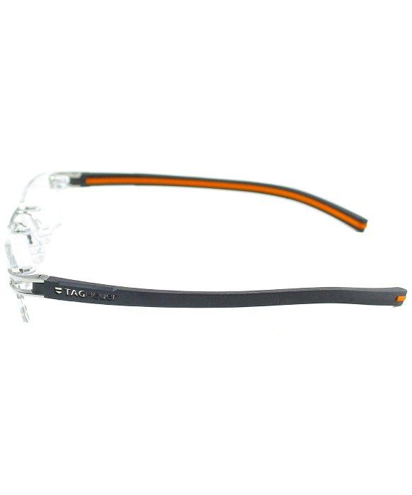 Rimless Glasses Tag Heuer : Tag heuer Tag 7641 004 Pure Black Orange Metal Rimless ...