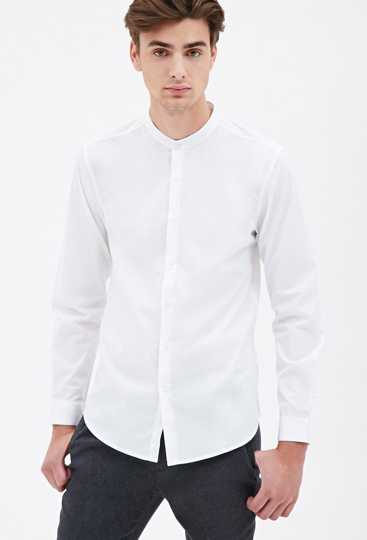 Shop the latest collection of mandarin collar shirt men from the most popular stores - all in one place. White mandarin collar shirt men Blue mandarin collar shirt men like the Yves Saint Laurent men's mandarin collar hybrid shirt. The mandarin collar shirt can provide a distinguished look for a professional. It might fit in better for.