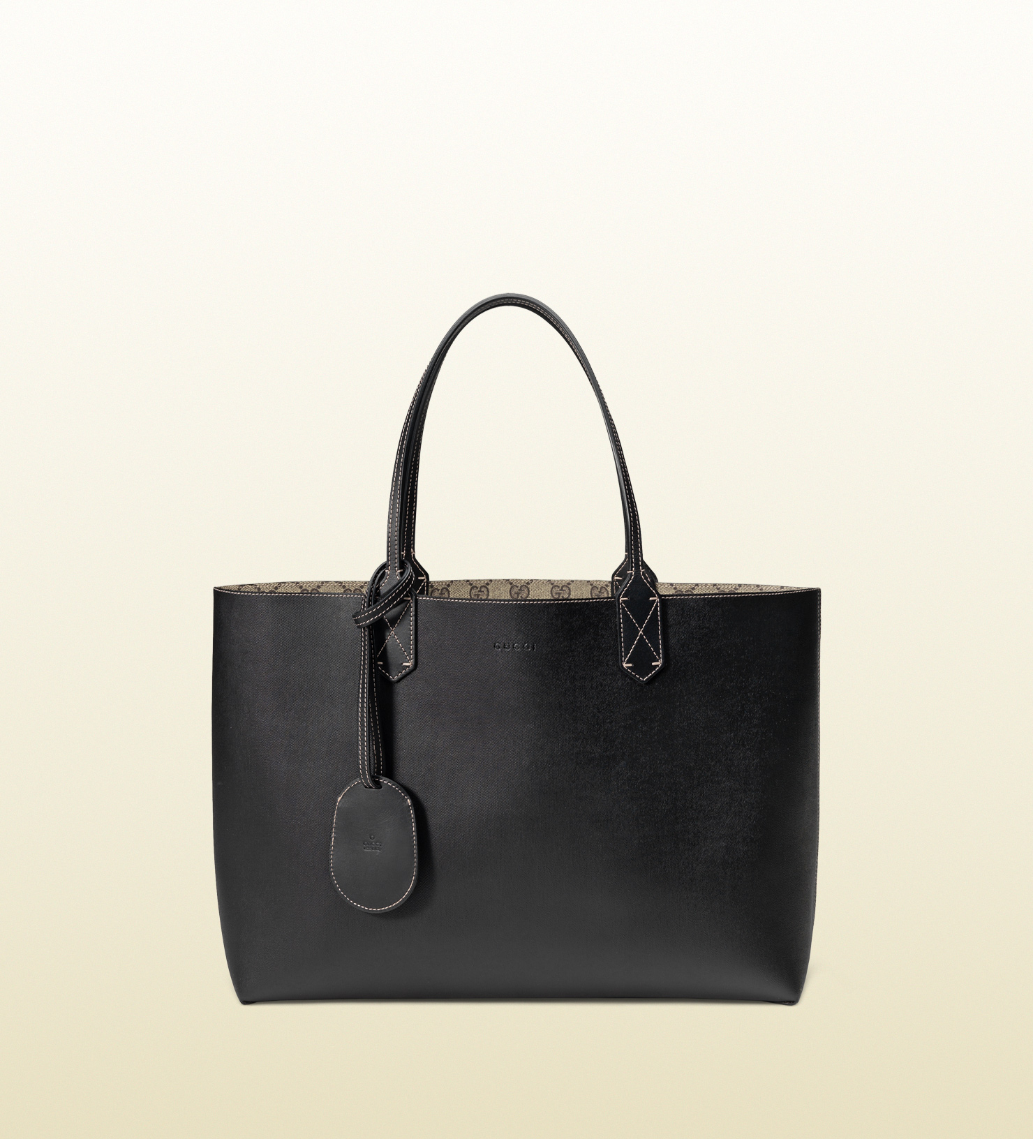 2bc8ba3ada5d Gucci Black Reversible Tote | Stanford Center for Opportunity Policy ...