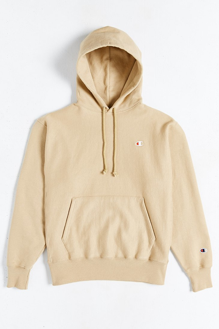 Champion Icon Reverse Weave Hoodie Sweatshirt in Natural for Men ...