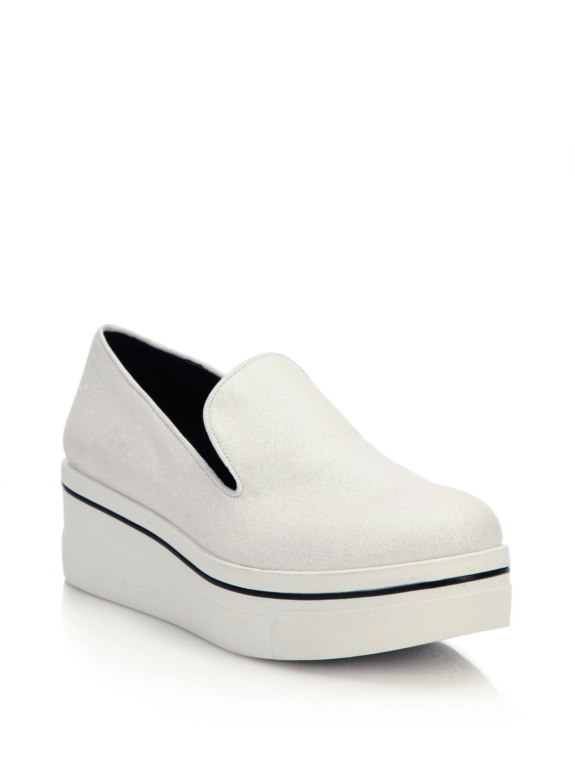 f2d4c28785e Lyst - Stella McCartney Binx Platform Loafers in White