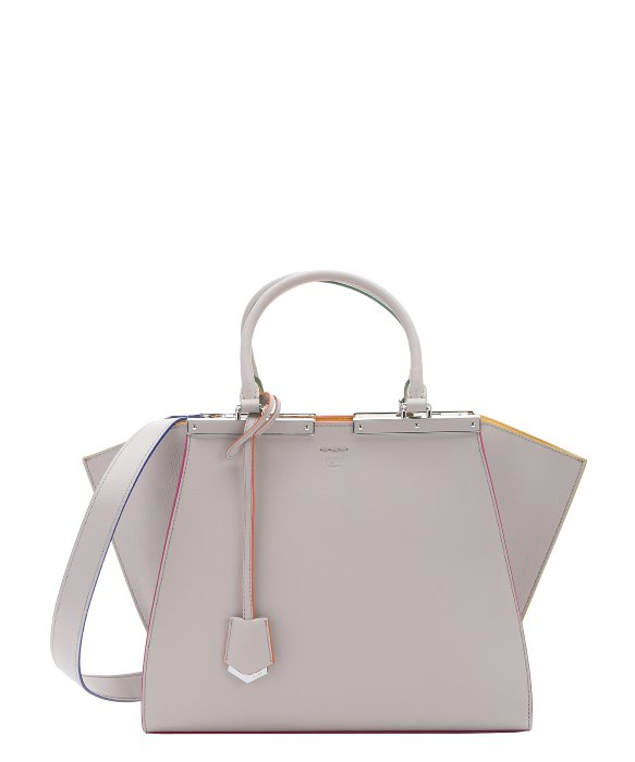 d86d73eee182 ... coupon for lyst fendi grey and yellow leather 3jours convertible tote  in gray a1043 ae725