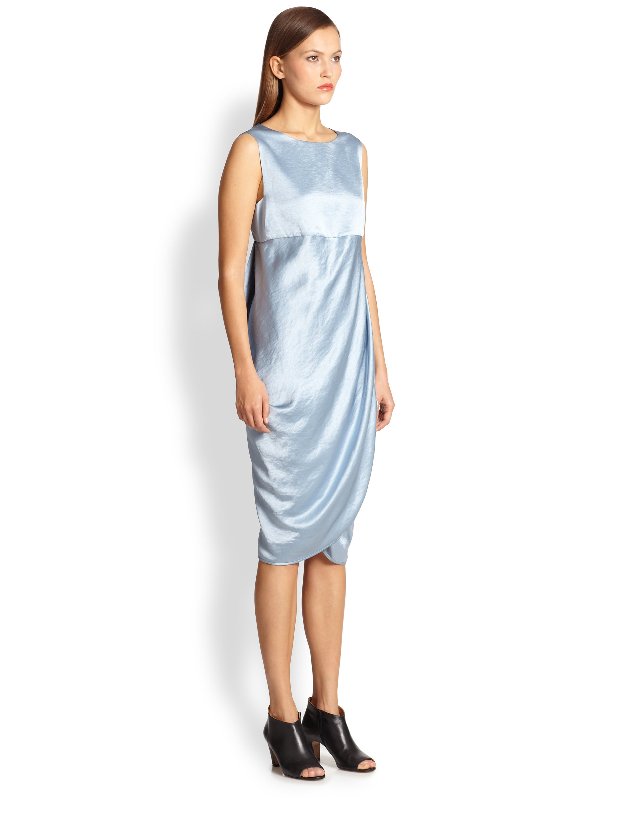 Lyst Zero Maria Cornejo Kali Dress In Blue