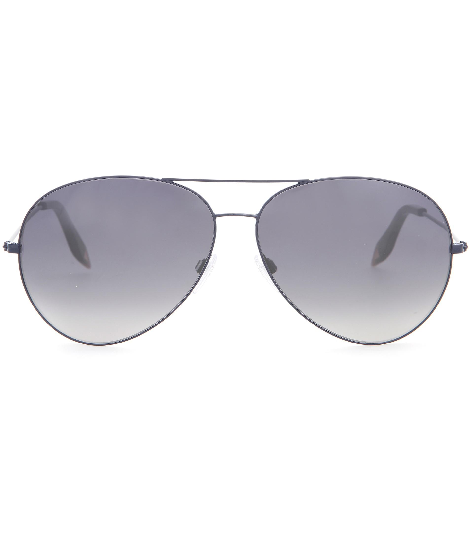 Classic Aviator Sunglasses  victoria beckham classic aviator sunglasses in metallic lyst