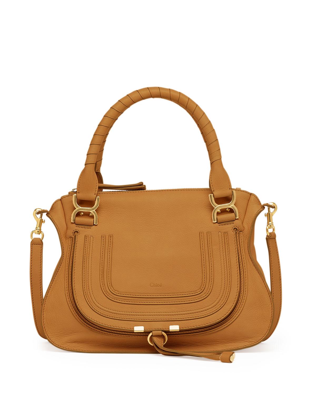 chlo marcie medium shoulder bag in brown lyst. Black Bedroom Furniture Sets. Home Design Ideas