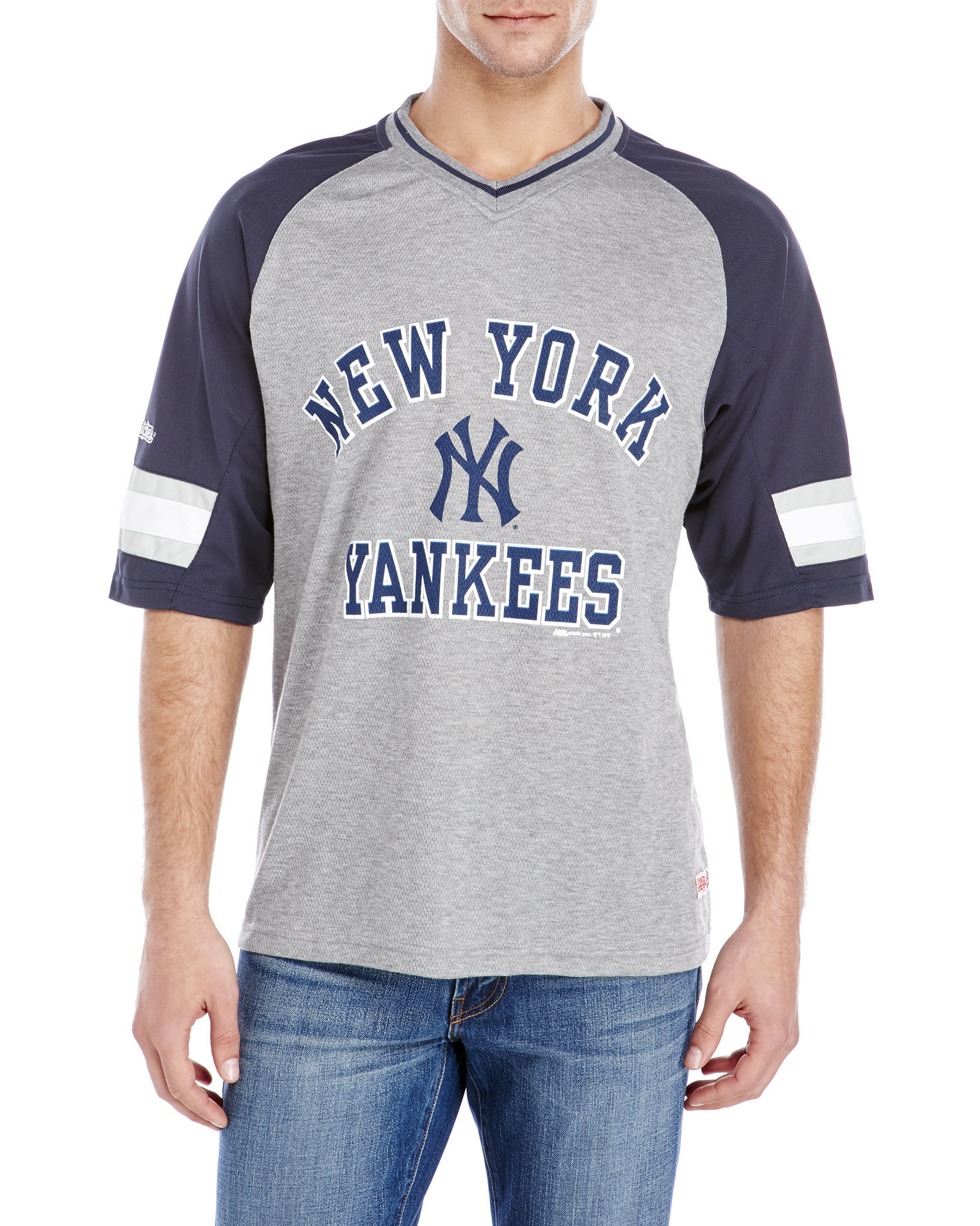 Lyst - Stitches Yankees V-Neck Raglan Tee in Gray for Men 78ded6840d0