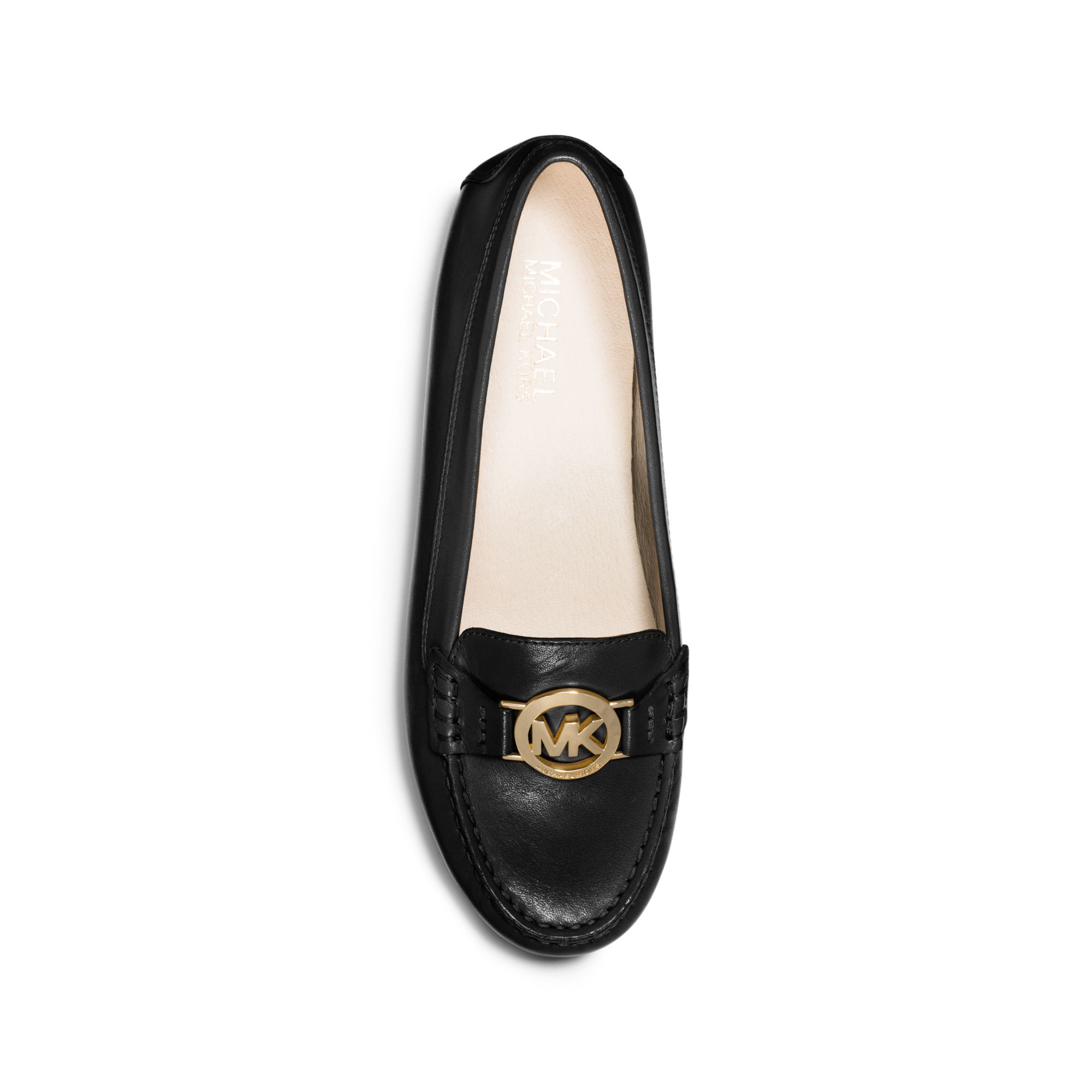 4c59ebd002f Lyst - Michael Kors Molly Leather Loafer in Black