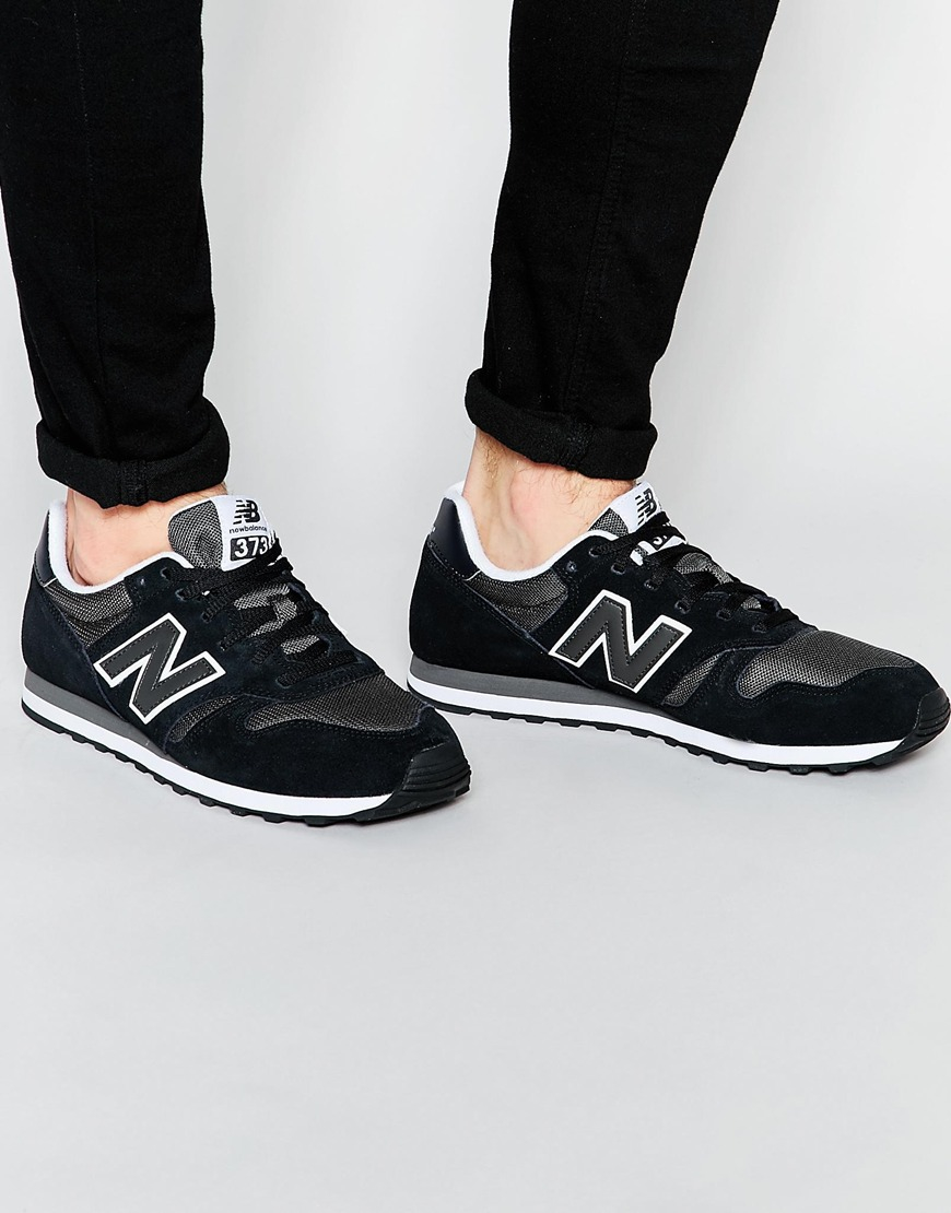 new balance 373 womens black and silver