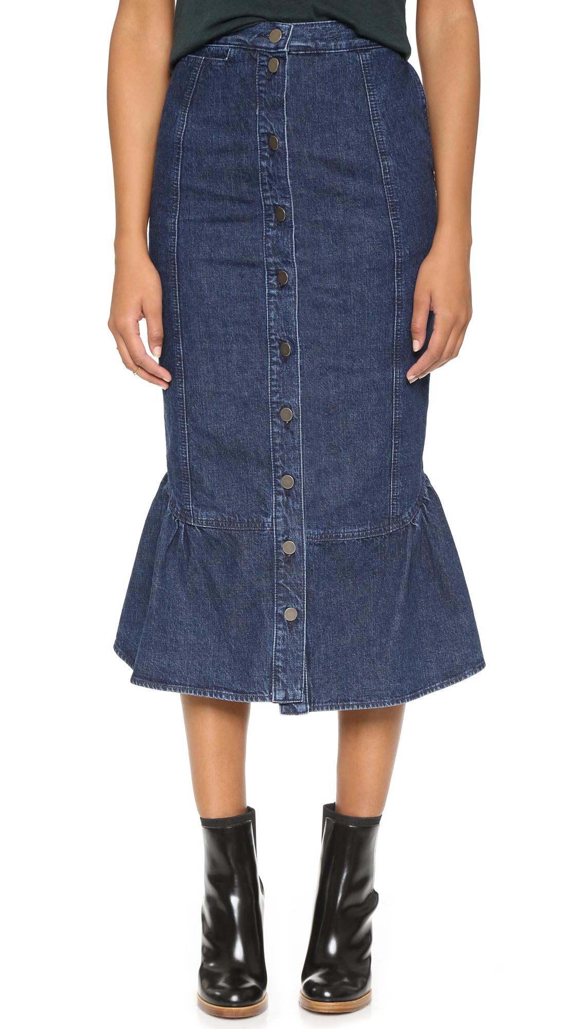 Rachel comey Range Denim Skirt - Indigo in Blue | Lyst