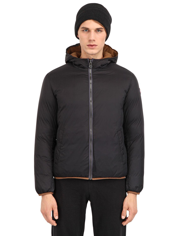 Colmar Honor Reversible Nylon Down Jacket In Black For Men