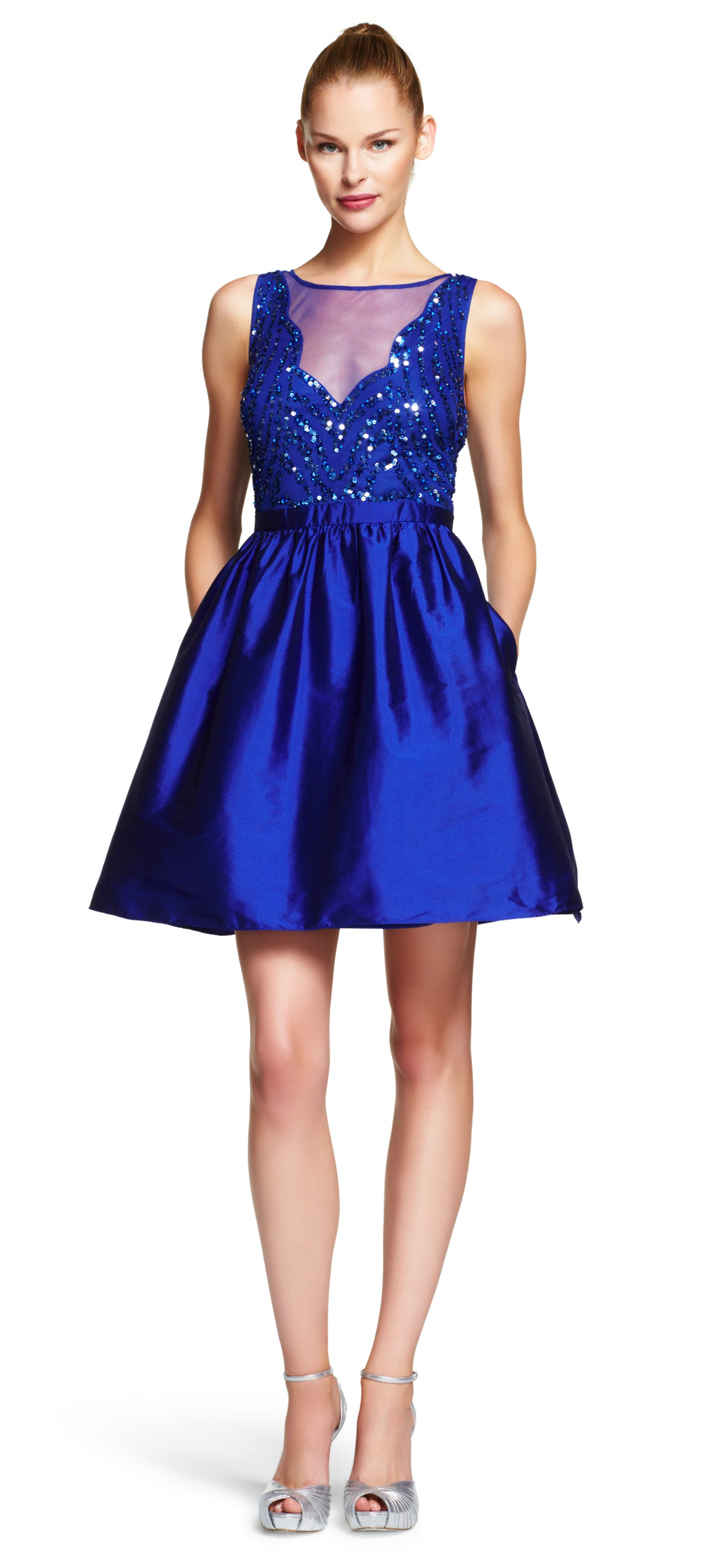 Papell cap sleeve beaded sequined gown dresses women macy s - Gallery Women S Party Dresses