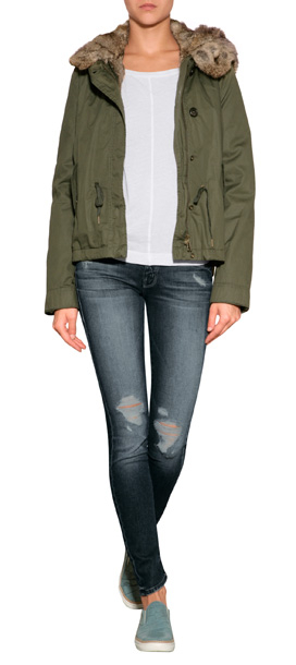 Woolrich Literary Walk Short Eskimo Parka in Green | Lyst