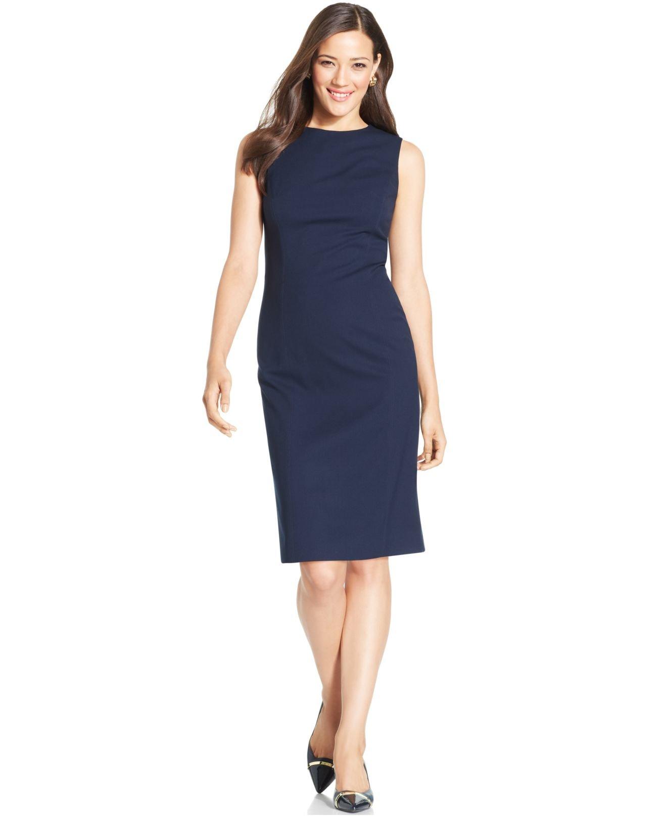 ef3c1d50 Jones New York Sleeveless Seamed Sheath Dress in Blue - Lyst