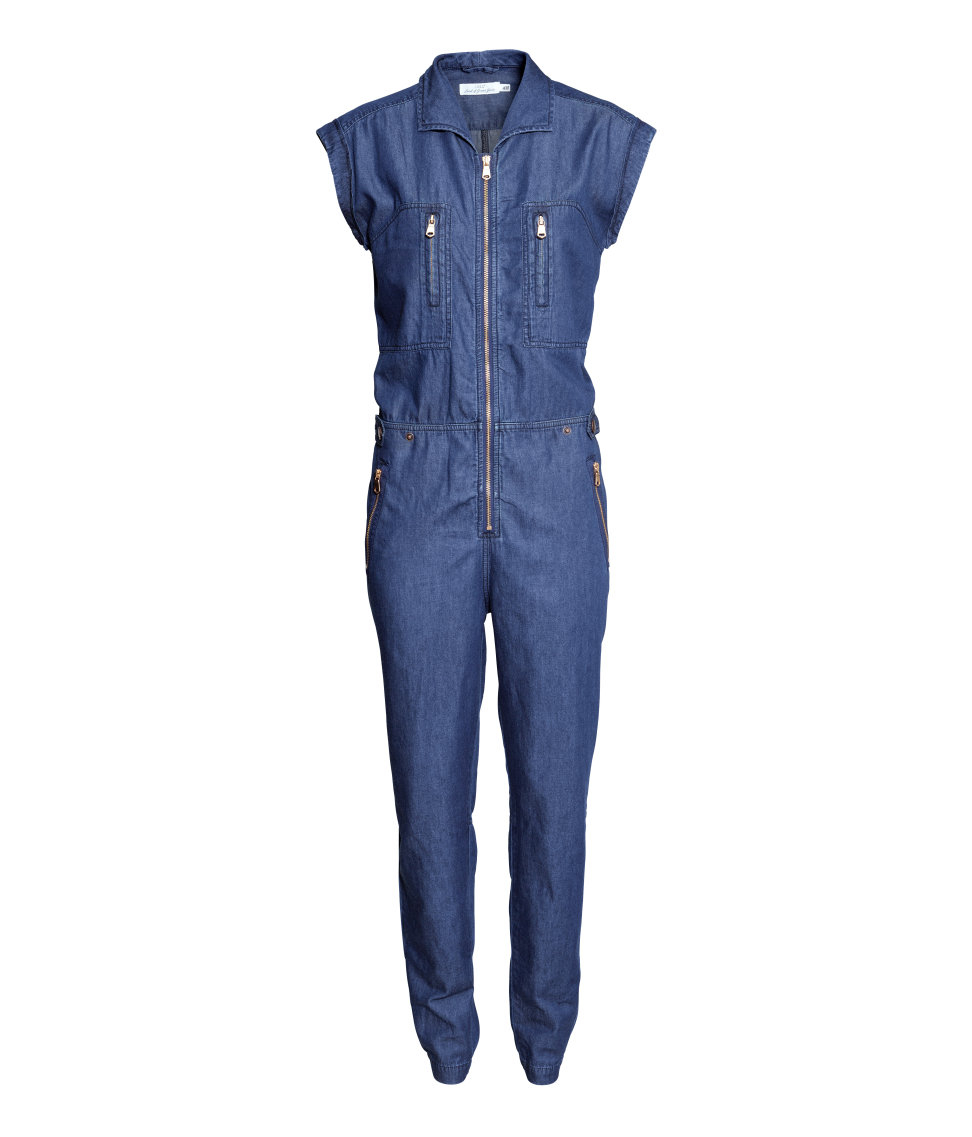 74f61082178b Lyst - Hu0026M Jumpsuit In A Lyocell Blend In Blue