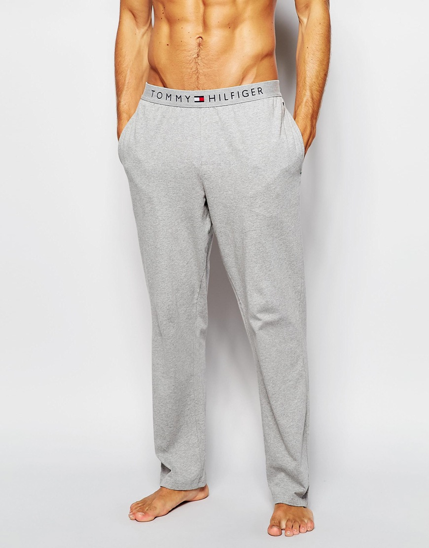 d9e51dac Tommy Hilfiger Icon Lounge joggers In Regular Fit in Gray for Men - Lyst
