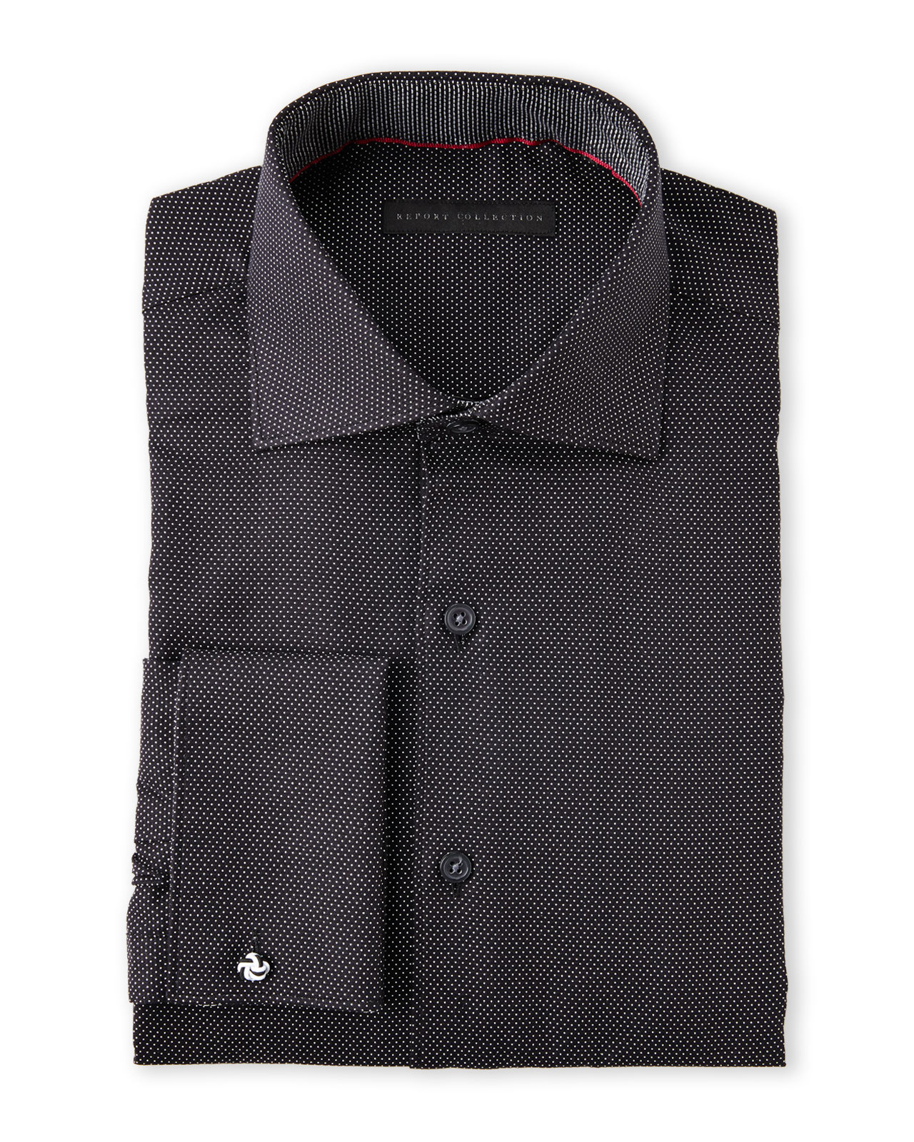 Report Collection Black French Cuff Dress Shirt In Black