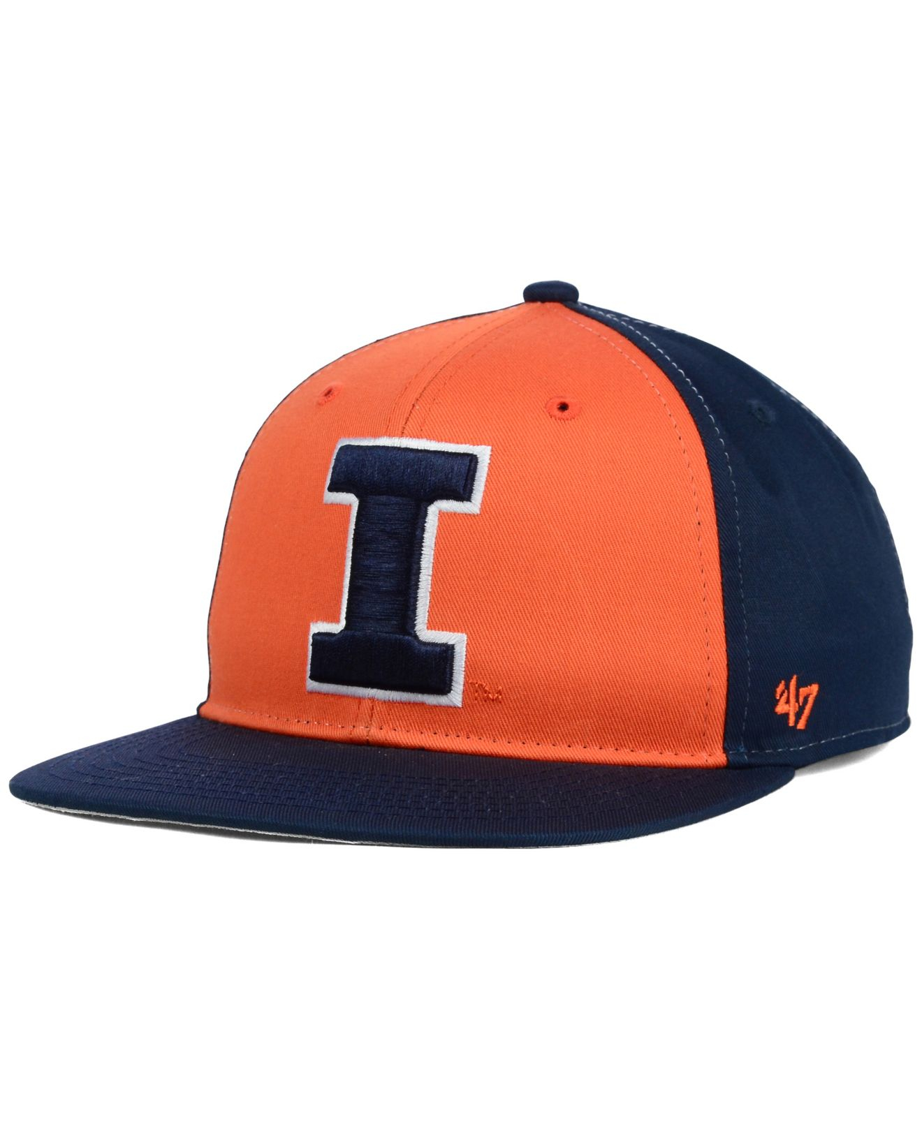 fdbdad6d07007 authentic illinois bass hat 9c2e3 92d9f  real lyst 47 brand kids illinois  fighting illini snapback cap in blue 06e37 837af