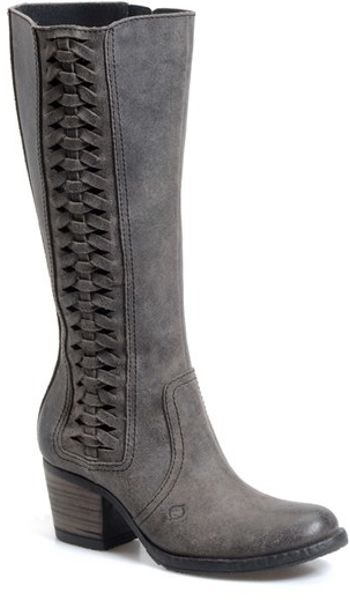 Born Ochoa Western Boot In Gray Deep Grey Leather Lyst