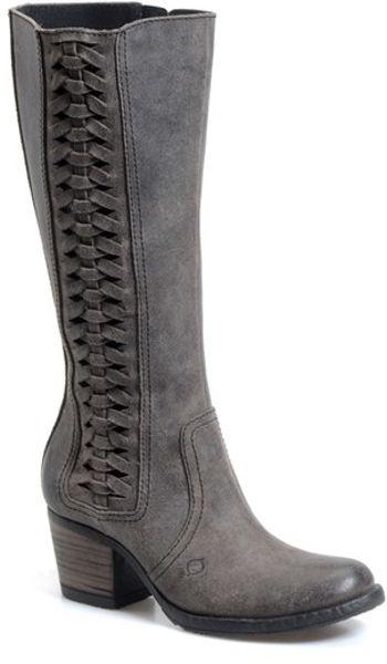 Born Ochoa Western Boot In Gray Deep Grey Leather Lyst