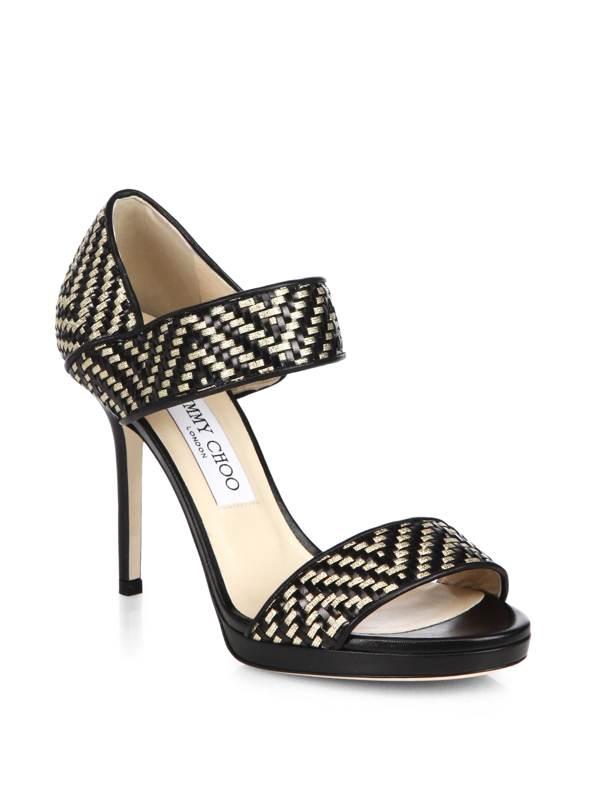 sale good selling really cheap online Jimmy Choo Metallic Patent Leather Sandals low cost cheap price big sale sale online buy cheap the cheapest EBOYsVYIuk