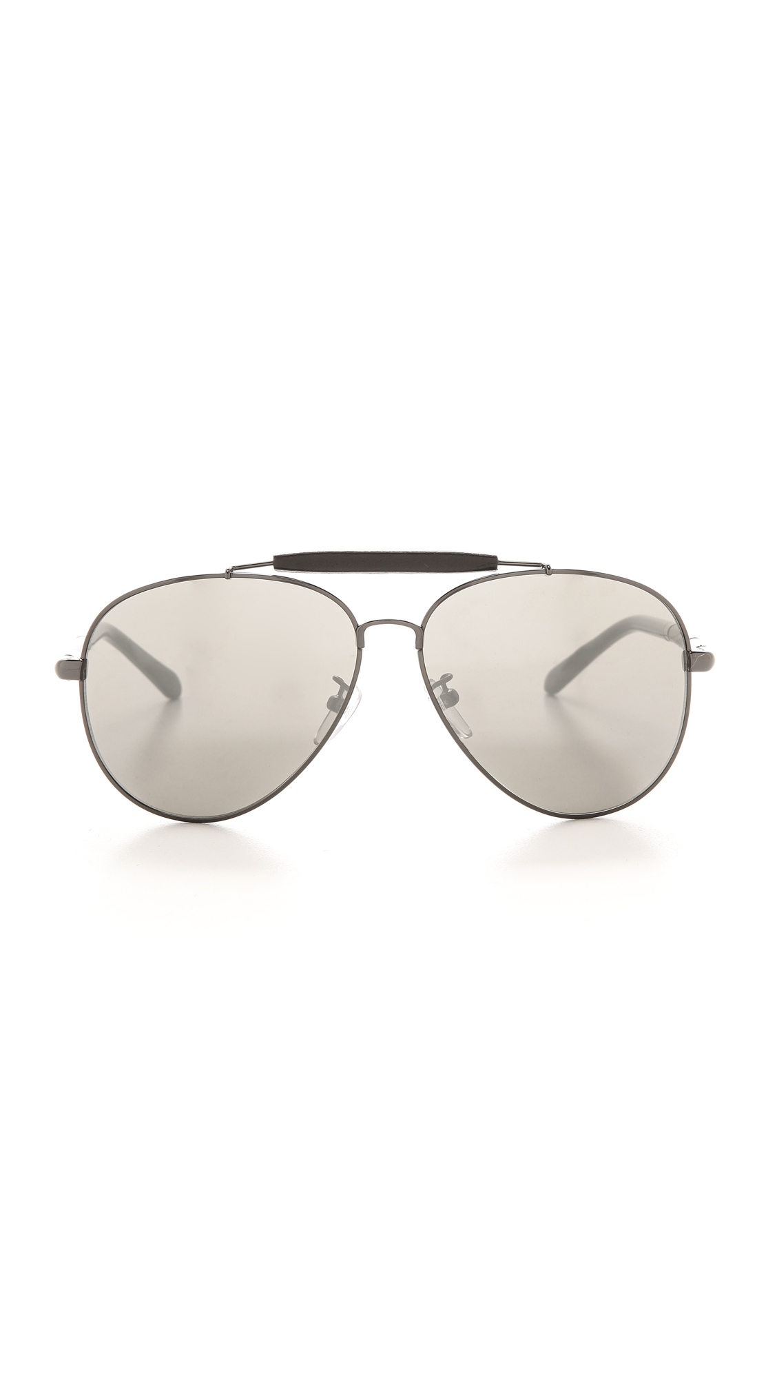 Lyst   Givenchy Top Bar Aviator Sunglasses   Gunmetal/Smoke Mirror In  Metallic